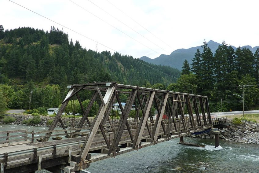 Bridge over the Coquihalla River seen in movie First Blood