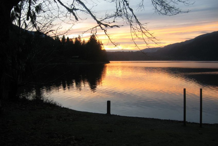 Winter Sunset at Cultus Lake | Chilliwack, BC