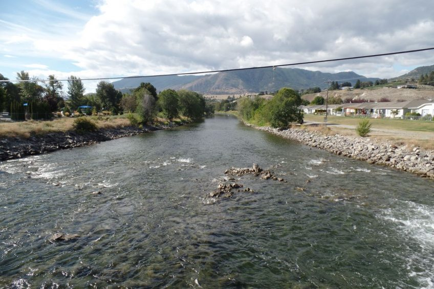 Okanagan River runs the length of the city - popular for tubing in the summertime | Penticton, BC
