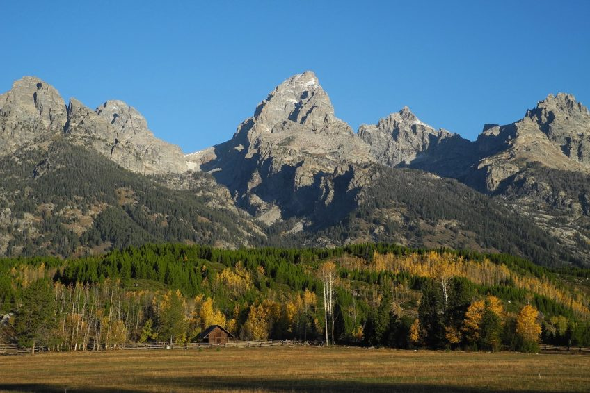 The breathtaking Grand Tetons are a little north of town-Jackson, Wyoming