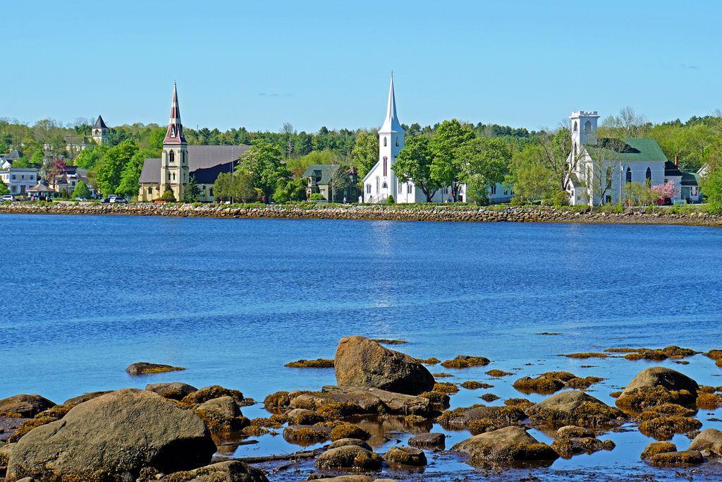 Three Churchs of Mahone Bay Nova Scotia